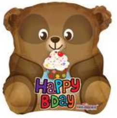 "18"" Cute Bear With Cupcake Shape"