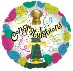 """18"""" Congrats Champagne Bubbles"""