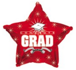 "18"" Congrats Grad Red Star"