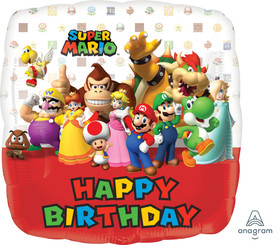 "18"" Happy Birthday Mario Bros"