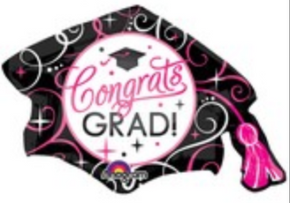 "31"" SuperShape Sparkling Grad Cap"