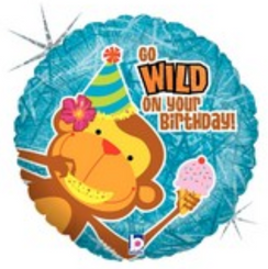 "18"" Holographic Wild Birthday Wishes"