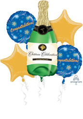 Champagne Bottle Congratulations Bouquet (Set of 5)