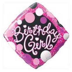"18"" Birthday Girl Pink & Black"