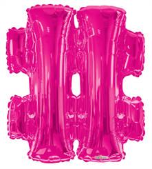"""34"""" Magenta Hashtag (#)"""