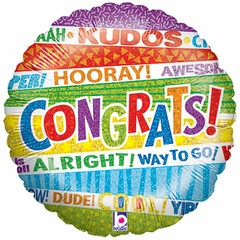 "18"" Lots O' Congrats Holographic Balloon"