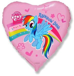 "18"" My Little Pony Pink Heart"