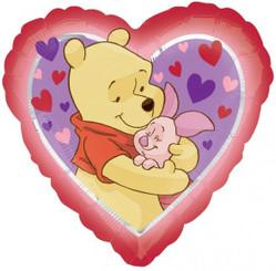"""18"""" Pooh Love Hug Heart"""