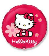 "18"" Red Circle Hello Kitty Flowers"