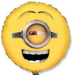 "18"" Despicable Me Minion Stuart Face"