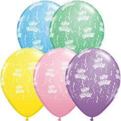 "11"" Birthday-A-Round Pastel Assortment"