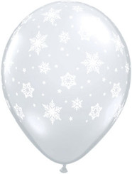 "11"" Snowflakes Around Clear Latex"