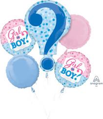 Gender Reveal Balloon Bouquet (A SET OF 5)
