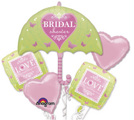 Bridal Shower Love Is Patient Bouquet  (A SET OF 5)