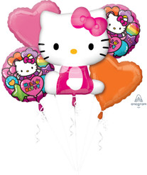 Hello Kitty Rainbow Bouquet of Balloons (A SET OF 5)