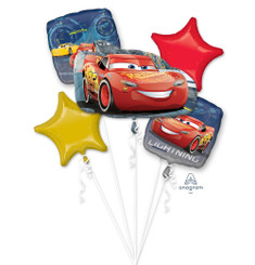Bouquet Balloon Lightning McQueen  (A SET OF 5)