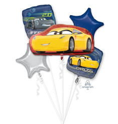 Bouquet Balloon Cars 3 Cruz Jackson (A SET OF 5)