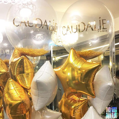 Gold Crystal Balloon Bouquet