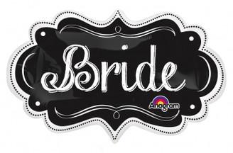 "27"" Bride Charlkboard Marquee"