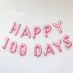 "16"" Happy 100 Days Kit (Air-fill ONLY) - Pink Color"