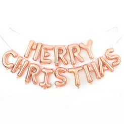 "16"" Merry Christmas Kit - Rose Gold (Air-fill ONLY)"