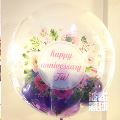 "24"" Crystal Balloon - Blossoms (Color Print)"