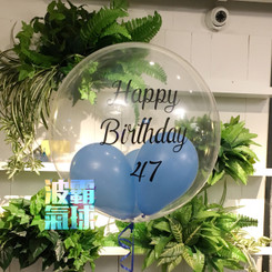 "20"" Crystal Balloon - Custom Logo (Color Print)"