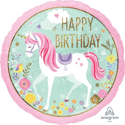 "18"" Magical Unicorn Happy Birthday"