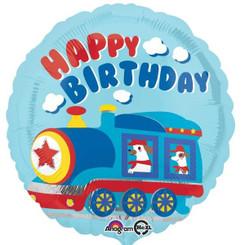 "18"" All Aboard Happy Birthday"