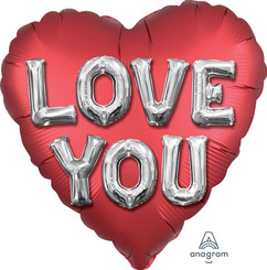 "28"" Satin Love You Letters"