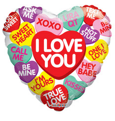 "18"" Candy Hearts Messages"