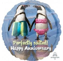 "18"" Anniversary Penguins"