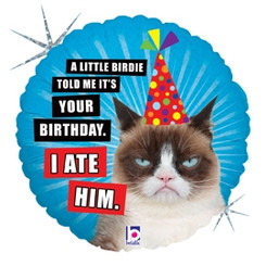 "18"" Grumpy Cat Happy Birthday"