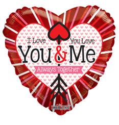 """18"""" I love You & You love Me"""