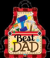 """41"""" Shape Foil Best Dad Apron"""