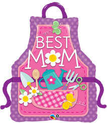 "41"" Shape Foil Best MOM Apron"