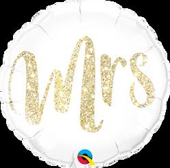 """18"""" Mrs Glitter Gold"""