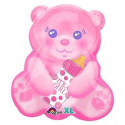"19"" It's a Girl Pink Bottle Bear"