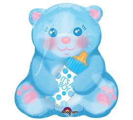 """19"""" It's a Boy Blue Bottle Bear"""