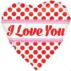 """18"""" Love You Red Dots"""