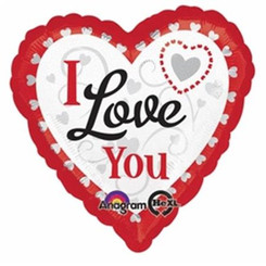 "18"" Valentines I Love You Hearts In Hearts"