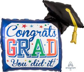 """30"""" Diploma & Hat"""