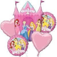 Princesses 1st Birthday (A SET OF 5)