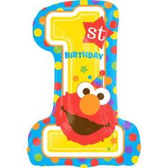 "28"" Sesame Street 1st Birthday Elmo"
