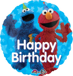 "18"" Sesame Street Fun Happy Birthday"