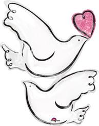 """32"""" Wedding Doves"""