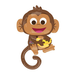 "36"" Adorable Monkey & Banana"