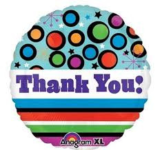 "21"" Thank You! Dots and Stripes"
