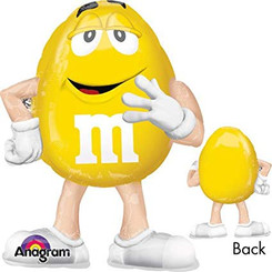 "27"" M&M's yellow Airwalker"