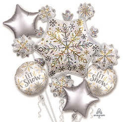 Shining Snow Bouquet (A SET OF 5)